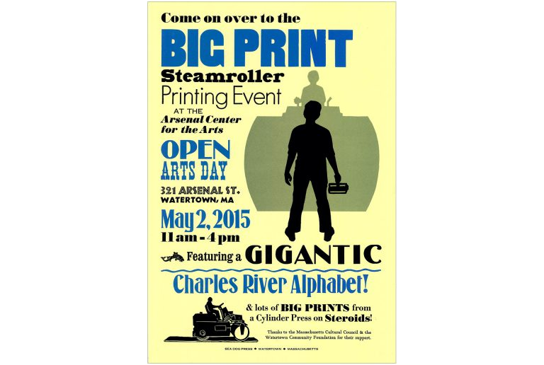 Big Print poster by Leslie Evans, Sea Dog Press