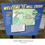 digital map illustration, Mill Creek Restoration by Leslie Evans Illustration