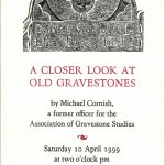 Gravestone lecture invite by Leslie Evans, Sea Dog Press