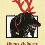 Morgan Deer greeting card by Leslie Evans, Sea Dog Press