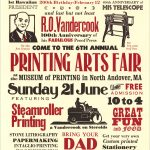 Printing Arts Fair 2009 poster by Leslie Evans, Sea Dog Press