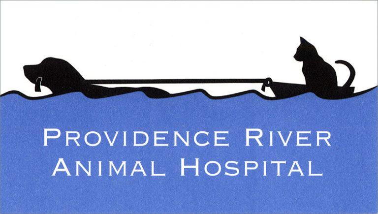 Providence River Animal Hospital logo design by Leslie Evans