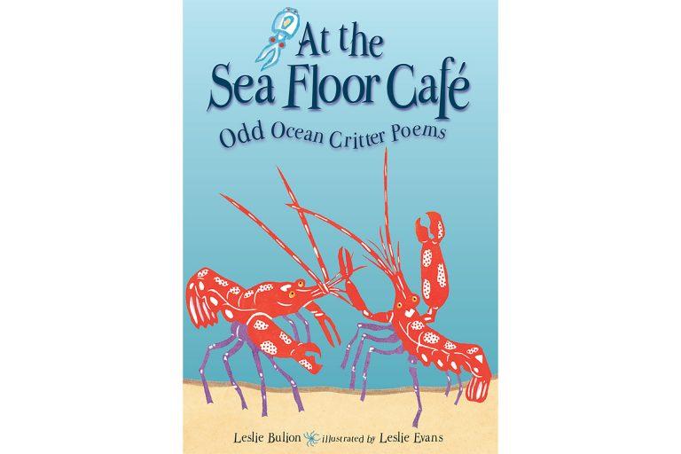 Sea Floor Cafe linocut cover art by Leslie Evans Illustration