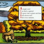 acorn from Autumn, An Alphabet Acrostic by Leslie Evans Illustration