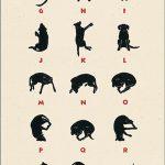 Labrador Alphabet poster art by Leslie Evans