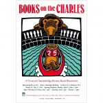 Books on the Charles poster by Leslie Evans