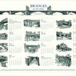 Bridges over the Charles calendar by Leslie Evans, Sea Dog Press
