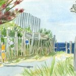 cape cod watercolor by Leslie Evans