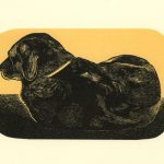 Clyde wood engraving art by Leslie Evans, Sea Dog Press