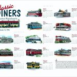 Classic Diners of Eastern Massachusetts calendar by Leslie Evans, Sea Dog Press
