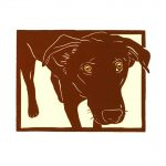 Dory linocut by Leslie Evans, Sea Dog Press
