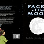 Faces of the Moon cover linocut by Leslie Evans Illustration