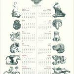 sabella Stewart Gardner Museum Menagerie calendar by Leslie Evans, Sea Dog Press