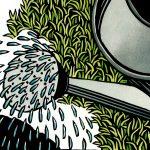 linocut illustration by Leslie Evans