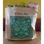 Be Green, Man shopping bag by Leslie Evans, Sea Dog Press