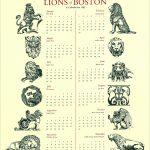 Lions of Boston calendar by Leslie Evans