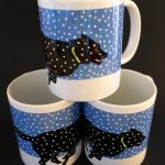 Clyde unbound mugs by Leslie Evans, Sea Dog Press
