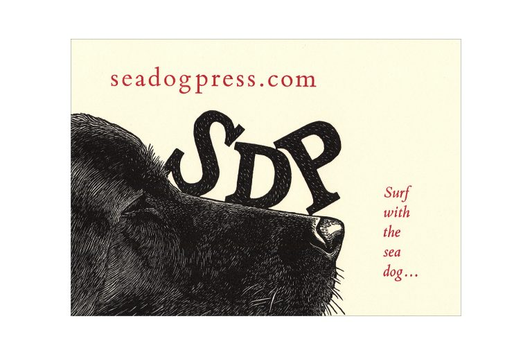 A Nose for Business wood engraving by Leslie Evans, Sea Dog Press