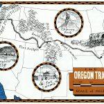 Oregon Trail map by Leslie Evans Illustration