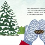 white spruce from Winter Trees by Leslie Evans Illustration