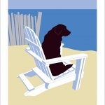 Sea Dog print by Leslie Evans, Sea Dog Press