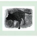 Watershake wood engraving art by Leslie Evans, Sea Dog Press