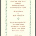 Margaret & Jeffrey wedding invite by Leslie Evans, Sea Dog Press